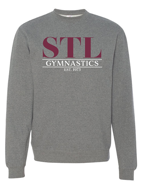 STL Gymnastics Gray Crewneck Sweatshirt