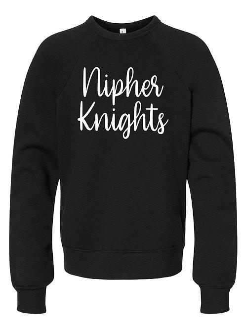 NIPHER BLACK BELLA + CANVAS - Unisex Sponge Fleece Raglan Sweatshirt