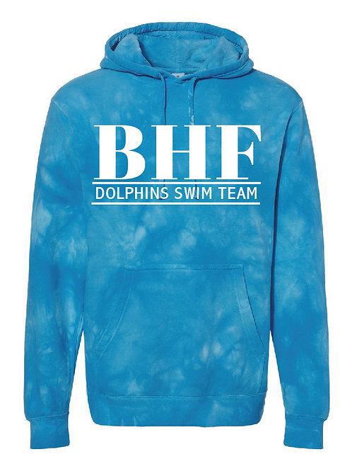 BHF Tie-Dyed Blue Hoodie