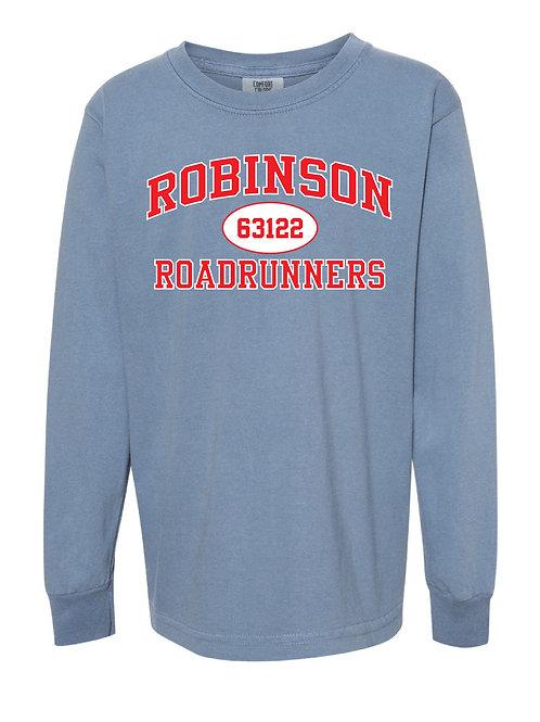 ROBINSON Blue Jean Comfort Colors - Garment-Dyed Long Sleeve T-Shirt