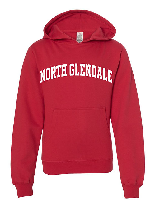 NORTH GLENDALE RED Independent Trading Co. - Midweight Hooded Sweatshirt