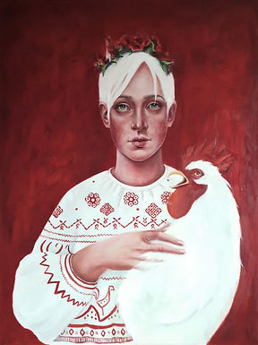 Girl With A Rooster