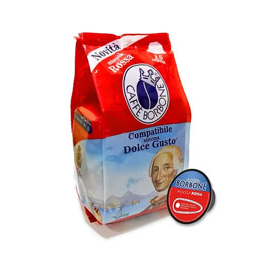 Miscela Rossa Borbone Dg Compatibile - 15 Capsule