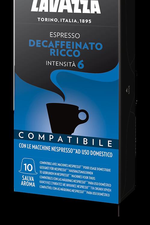 Decaffeinato Ricco Compatibile Nespresso -10 Capsule