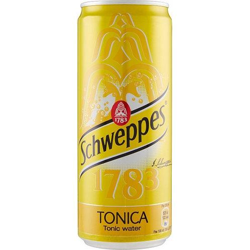 Lattina sleek Schweppes Tonica 33 cl - Confezione da 5 pz