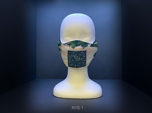 3D FACE MASK - HAPPY NEW YEAR