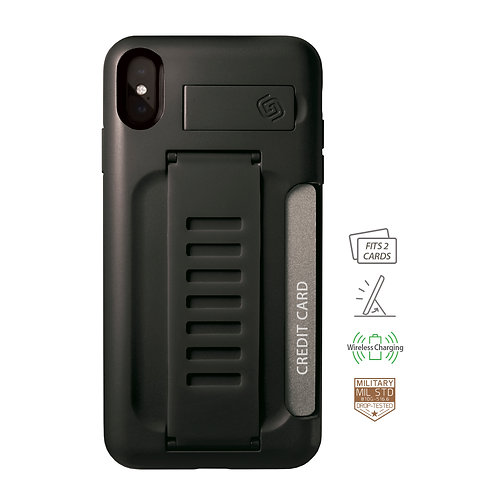 Grip2u iPhone Xs Max / BOSS Kickstand & Card - Charcoal