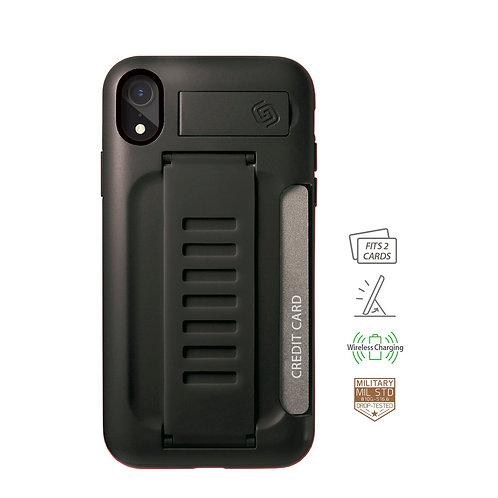 Grip2u iPhone Xr / BOSS Kickstand & Card - Charcoal