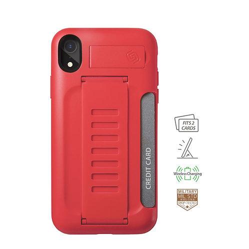 Grip2u iPhone Xr / BOSS Kickstand & Card - Ruby