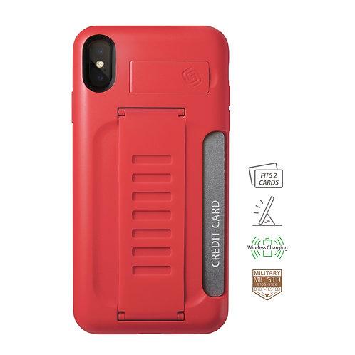 Grip2u iPhone Xs Max / BOSS Kickstand & Card - Ruby