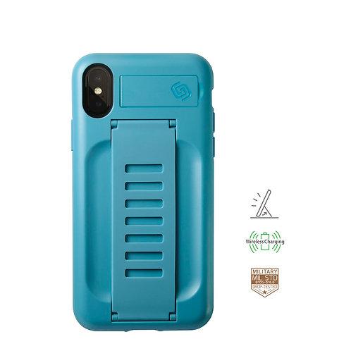 Grip2u iPhone X, Xs / BOOST Kickstand - Aqua