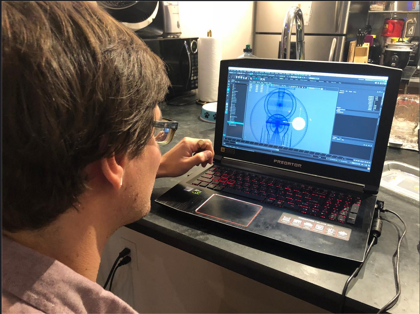 volenteer working on project