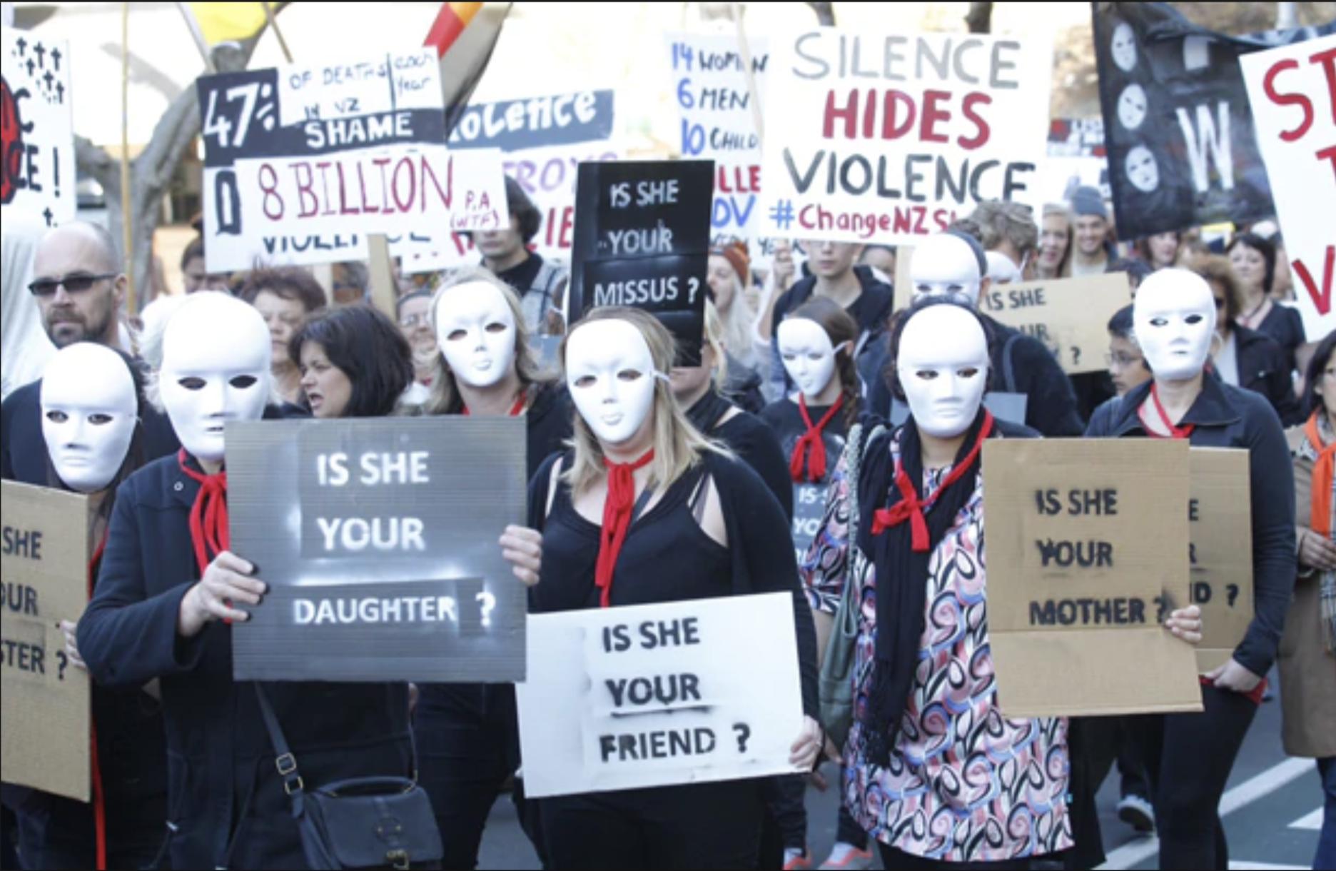 Demestic Violence Protest