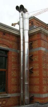 Conduits de cheminée modulaire double paroi en inox pour groupe électrogène