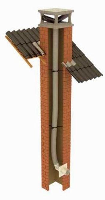 Kit de tubage polypropylene pour chaudière a condensation b3 avec air prise dans le local
