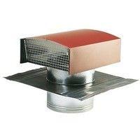 chapeau de toiture métallique pour refoulement d'air ou reprise d'air dans les systèmes de ventilation