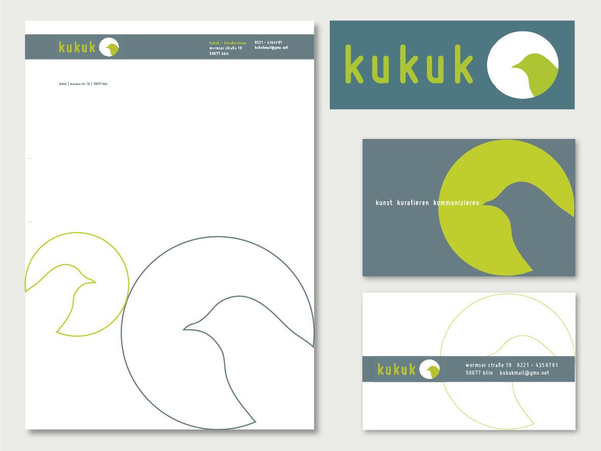 Geschäftsausstattung für Kuratorengruppe Kukuk, Köln