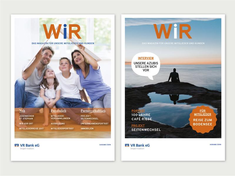 Miglidermagazin WIR der VR Bank eg Bergisch Gladbach Leverkusen