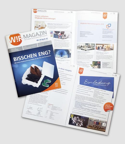 Mitgliedermagazin WIR der VR Bank eg Bergisch Gladbach Leverkusen