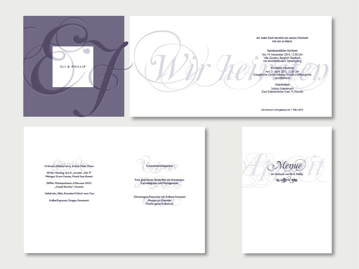 Gestaltung Papeterie Hochzeit