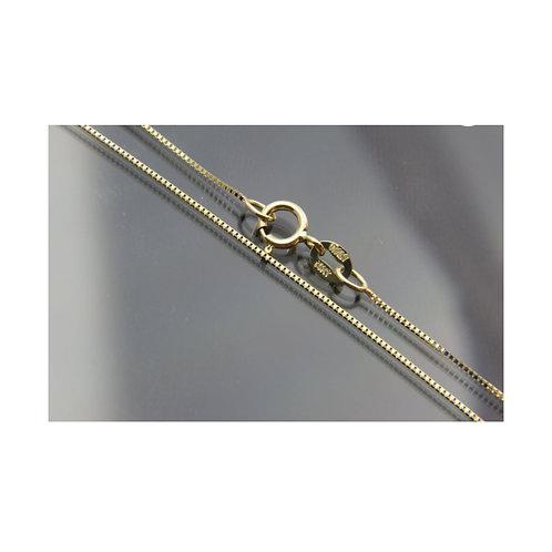 "10 & 14 Karat 1.50 mm standard 22"" Chain for Nameplate Necklace"