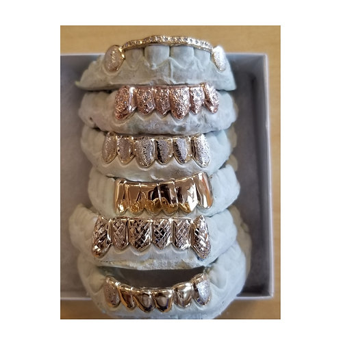 Finishing Options to complete your Grill. Set 2. Chipped Teeth