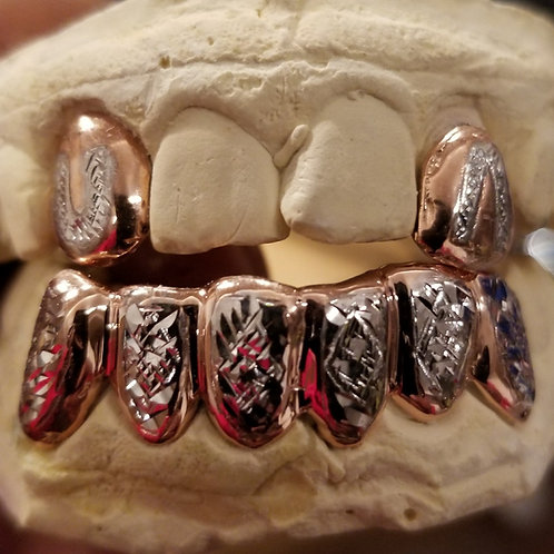 Finishing Options to complete your Grill. Set 9. Rhodium Two-Tone Look