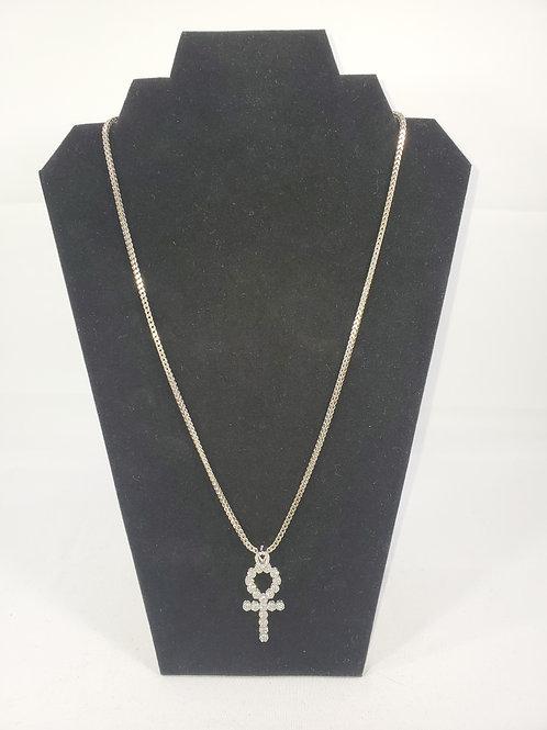 Silver Chain, Silver Unk  Pendant with Cz