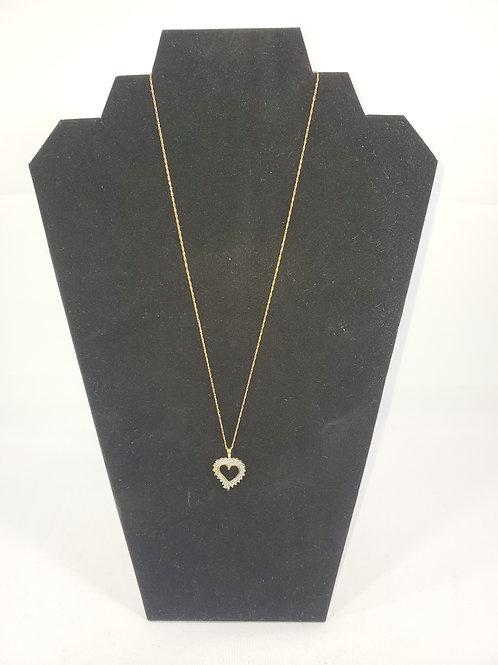 14kt. Diamond Heart Pendant