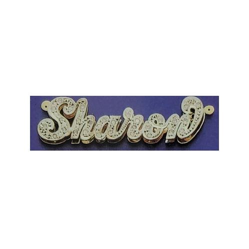 10 & 14 Karat Nameplate for Bracelet (Double Plate)