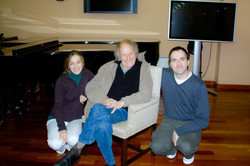 With Monica Rubio and Ivry Gitlis