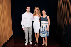 With Celine Dion and Monica Rubio