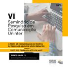 Seminário remoto abre submissões para trabalhos na área de Comunicação