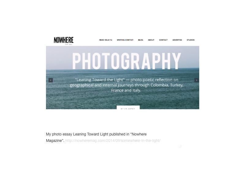 Nowhere Magazine Photo essay