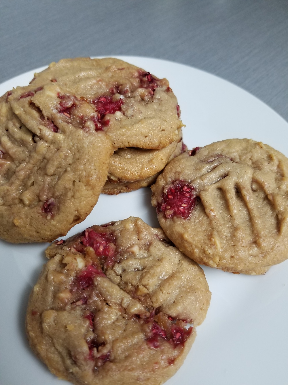 peanut butter cookies, jam, milk, baking, dessert, 4 ingredients, simple, sweet