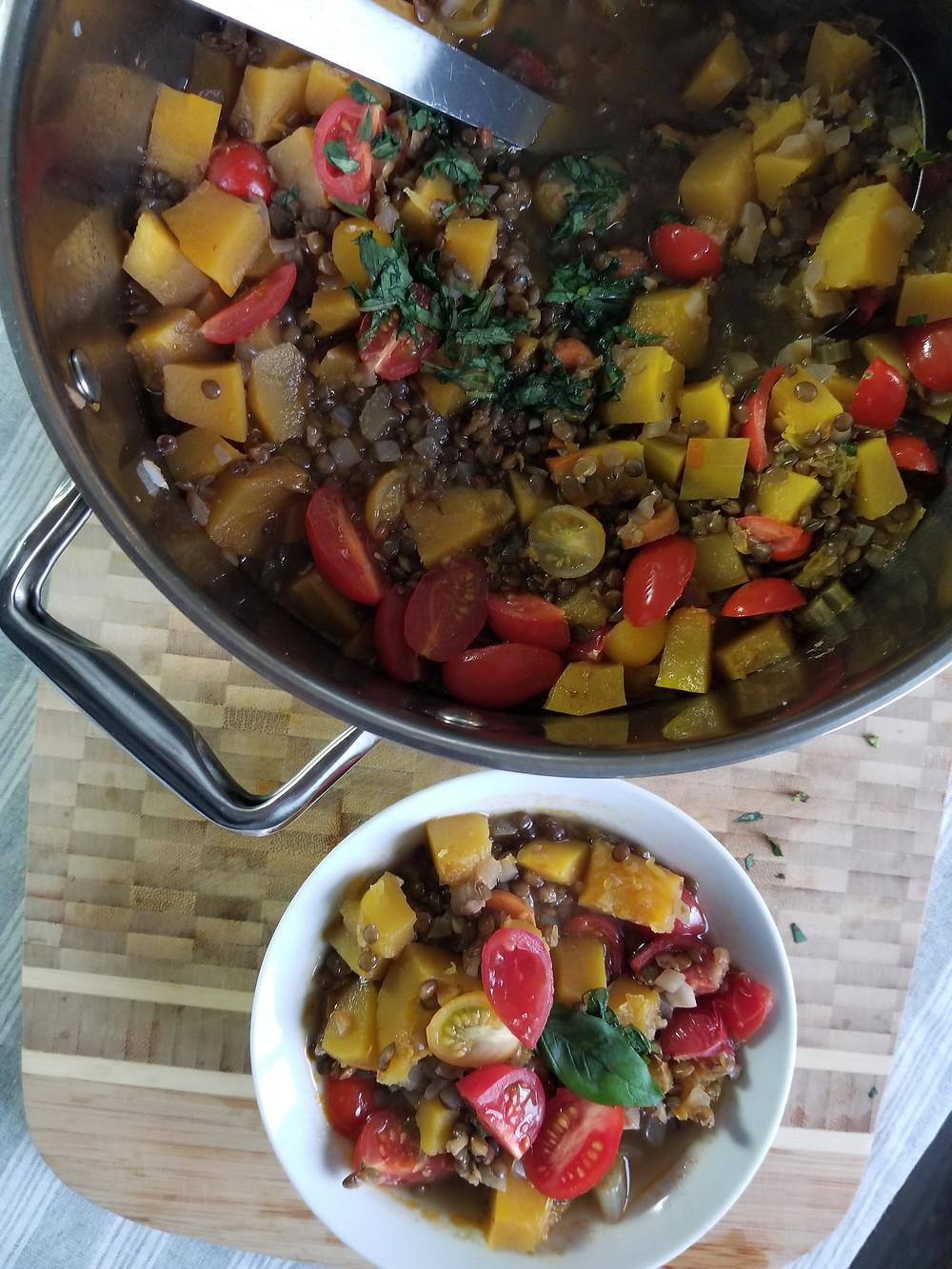 Vegetarian Pumpkin Lentil Stew