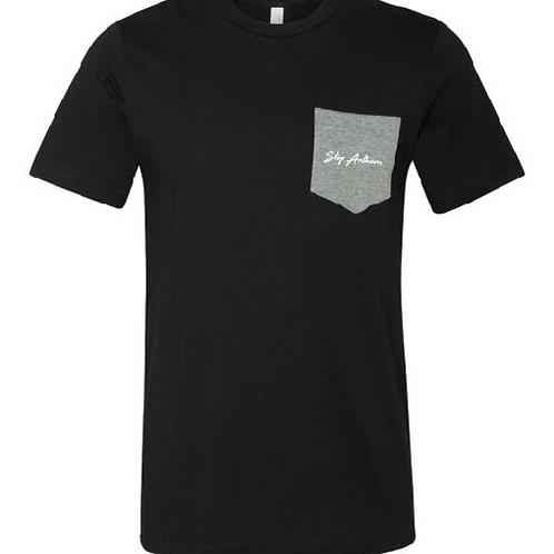 Black Tshirt w/ Grey Pocket