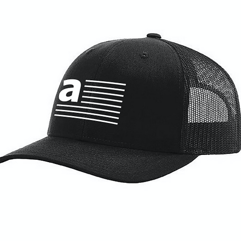 "Black ""a"" Anthem Hat"