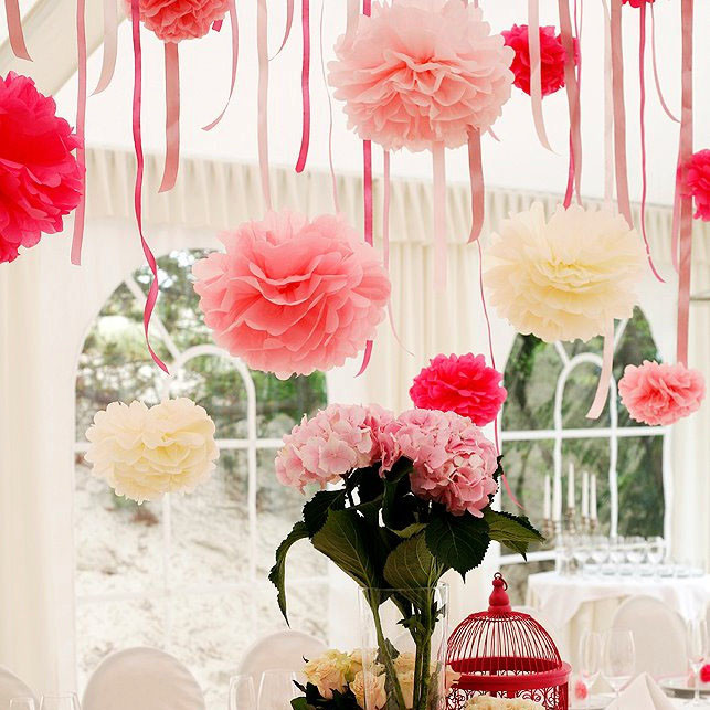 Diy-Multi-Colour-10inches-25cm-50pcs-Paper-Flowers-Ball-Wedding-New-Homes-Birthd