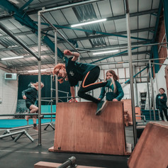 Girls Parkour Vault Room to Move