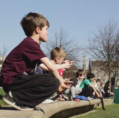Kids Parkour outdoors