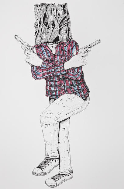 Figure with Guns, 2019