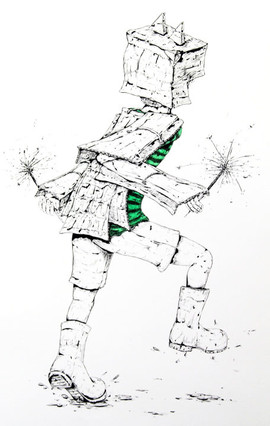 Figure with Sparklers, 2012