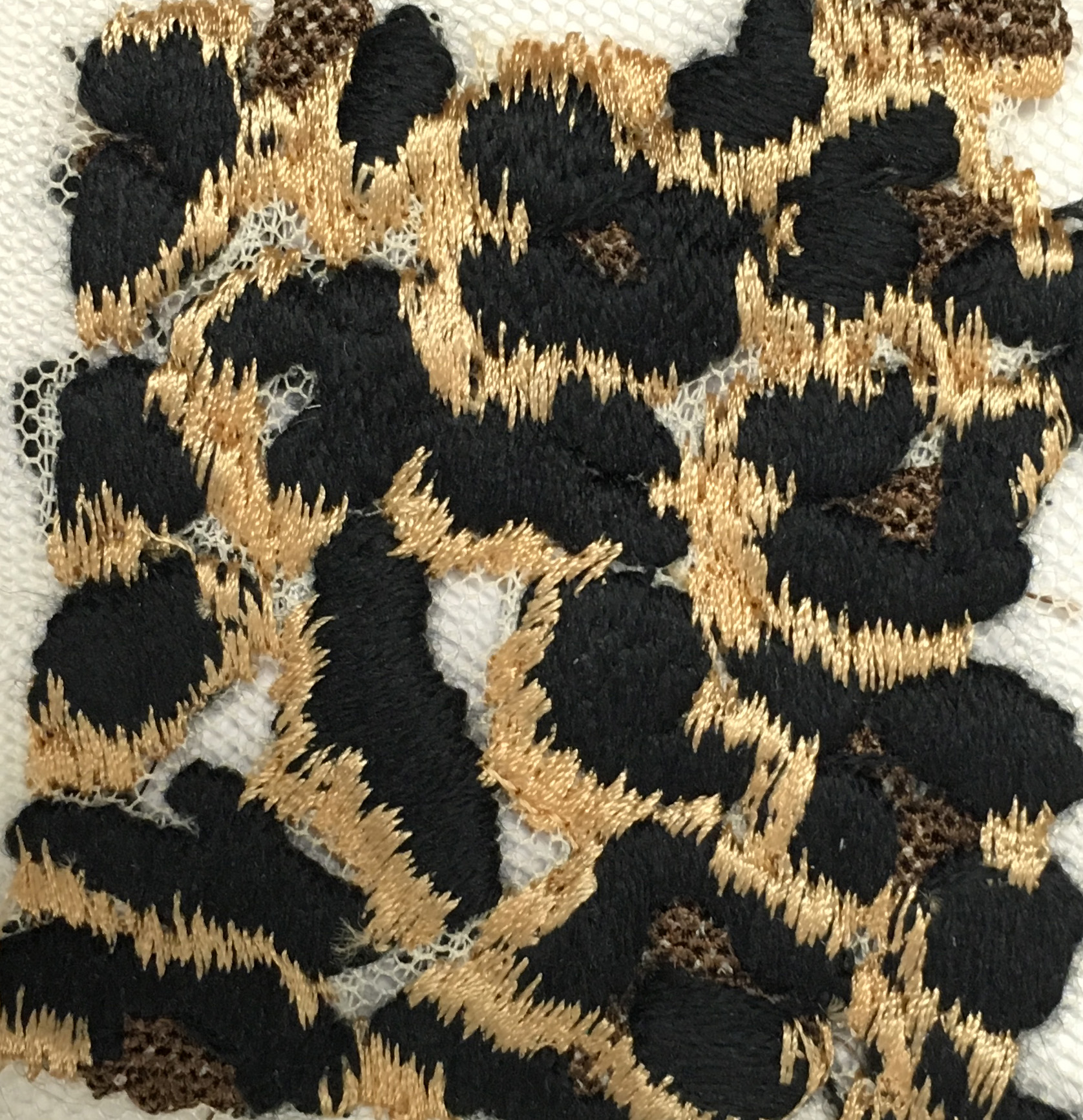 3 TONE LEOPARD EMBROIDERY