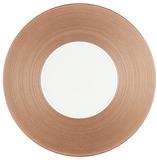 jl coquet hemisphere metal pink dinner plate