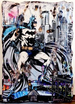 BATMAN IN GOTHAM CITY  140X100CM