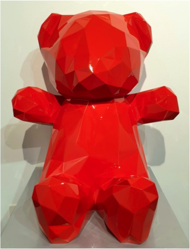 TEDDY ROUGE 65x60x45cm