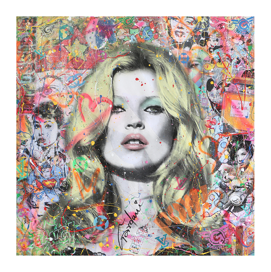 KATE MOSS MY MUSE 101X101CM