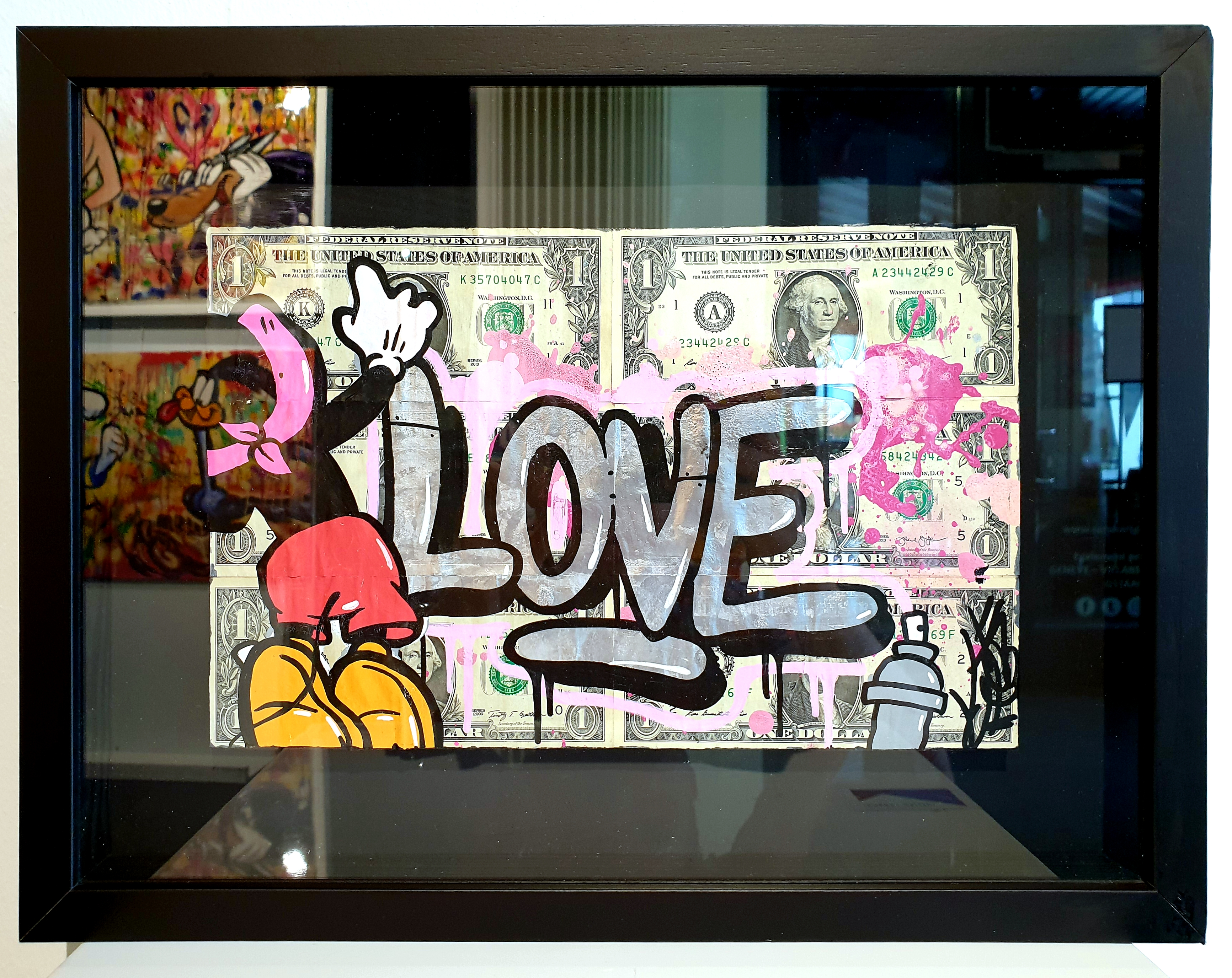DOLLARS MICKEY LOVE 33X43CM