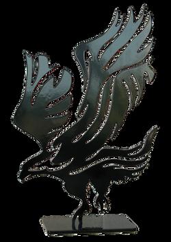 Aigle noir PM 55X35X12CM
